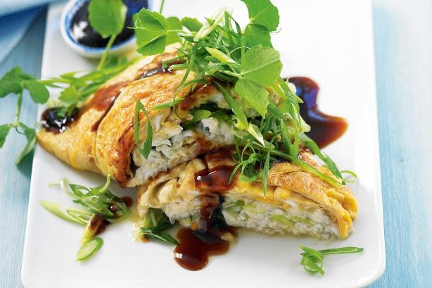 Crab Patola Omelet Recipe (Omelette)