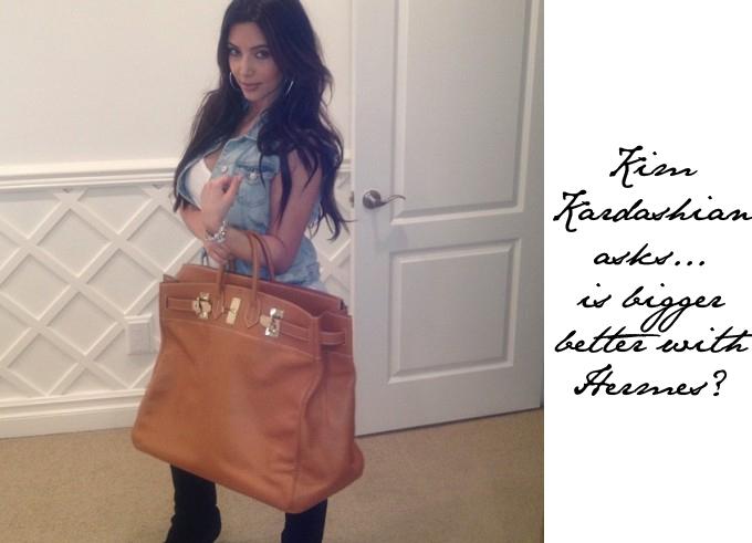 kim kardashians new hermes bag