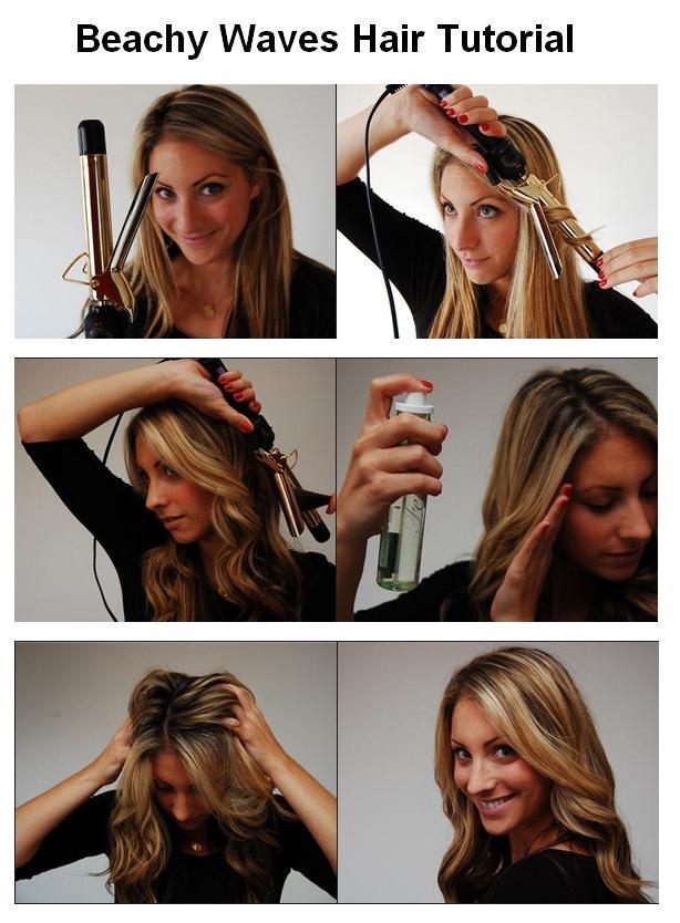 Beachy Waves Hair Tutorial Www Lindsaymarcella Com
