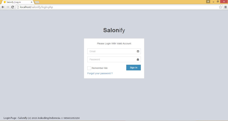 Aplikasi Salon Dan Spa Web Php Mysql Raka Adi Nugroho