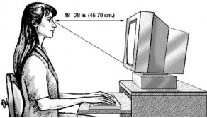 Posisi Badan Terhadap Monitor