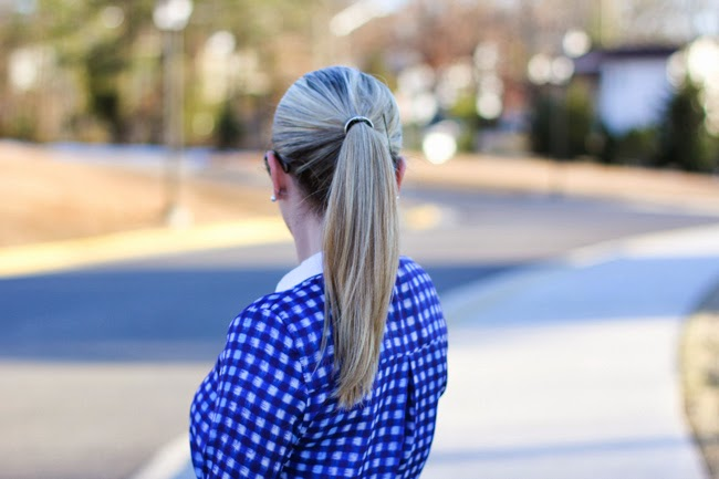super sleek ponytail