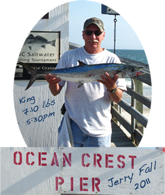 Ocp fish tales fish biting again at ocp king 39 s back on line for Ocean crest fishing pier