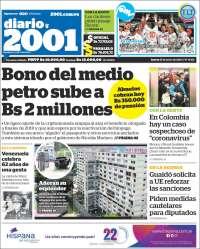 23/01/2020 PRIMERA PAGINA DE 2001 DE VENEZUELA