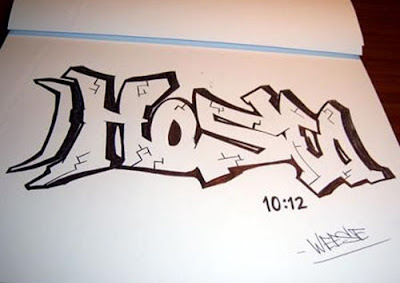 Draw graffiti, graffiti, graffiti drawing