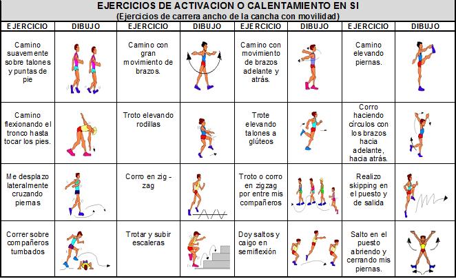 juego ejercicio: