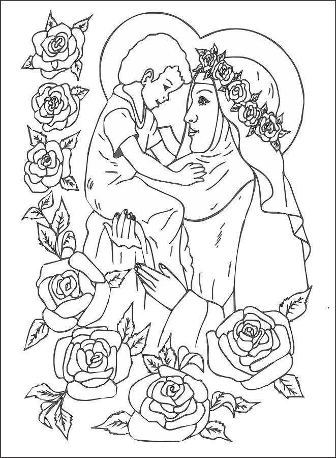Compartiendo por amor: Dibujos Santa Rosa