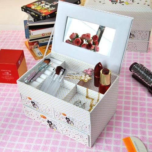 Как сделать своими руками коробочку для косметики своими руками
