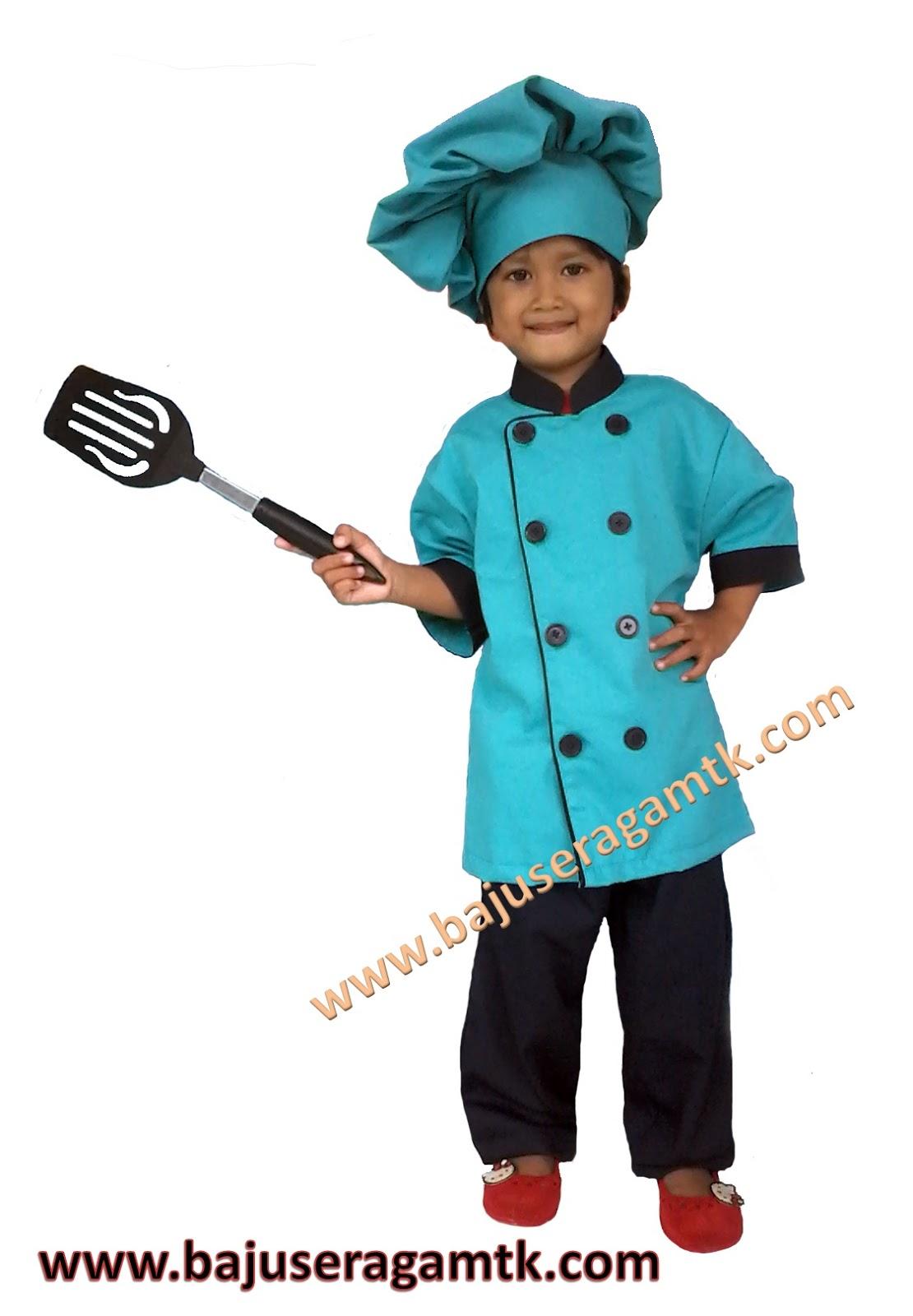 baju profesi anak baju koki anak baju chef anak