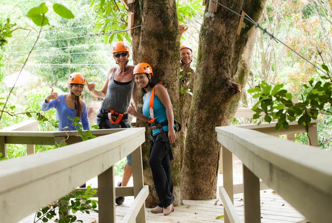 Twin Falls Zipline Tree Top Canopy tour