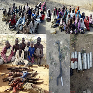 Nigerian troops killed 5 Boko Haram terrorists; ...rescue 210 captives