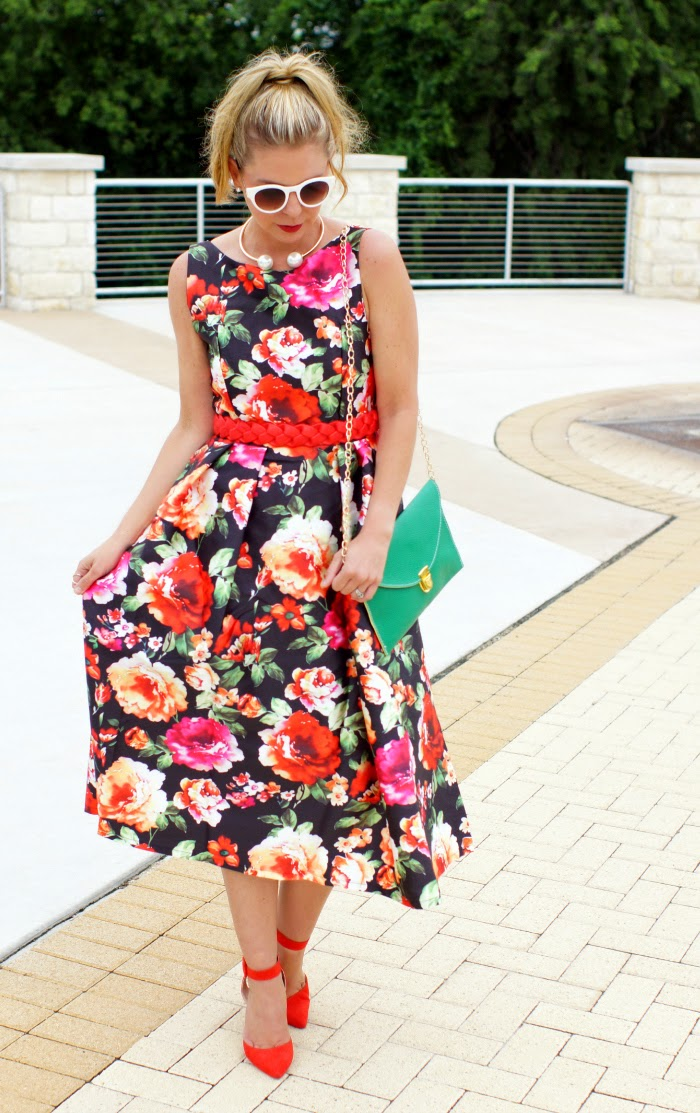 Chicwish Full Floral Sleeveless Dress