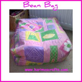 bean bag seat sewing