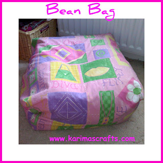 bean bag seat sewing