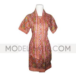 Foto Baju Atasan Batik Lurik Wanita