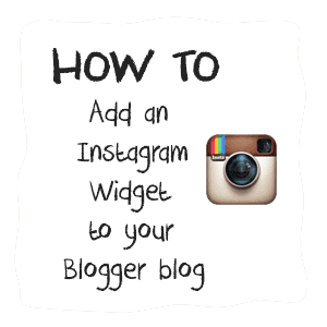 instagram widget in blogger