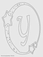 Mewarnai Gambar Huruf Alfabet Y Bergaya Bulan Bintang