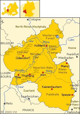 Karte der Provinz Rheinland