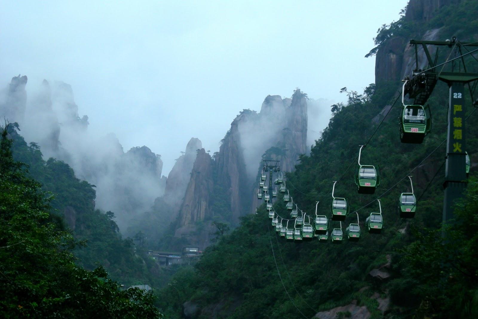 三清山登山口からのロープウェイ