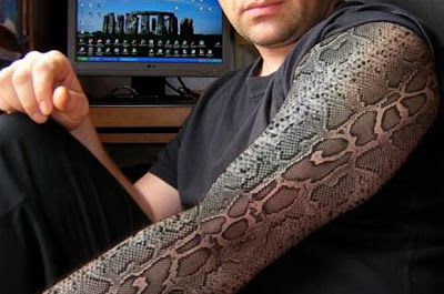 3D Snakes Tattoo on Hands