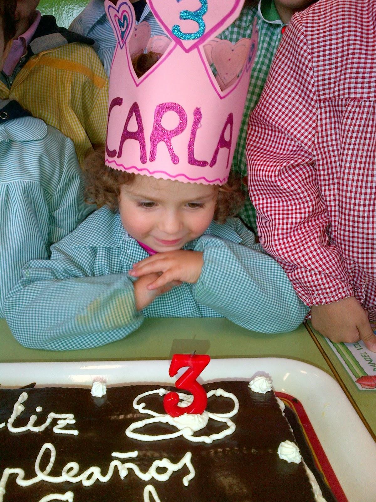 Carla cumple 3 años