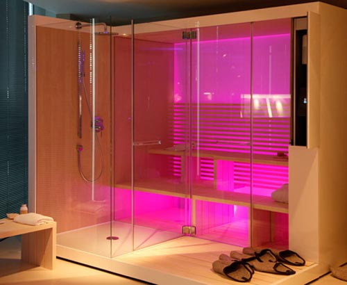 and minimalist sauna design with shower from duravit home design