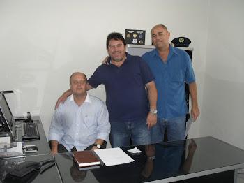 VALDECIR, DIRETOR DE FISCALIZAÇAO DE OBRAS JORGE E FISCAL DE OBRAS  GERALDO