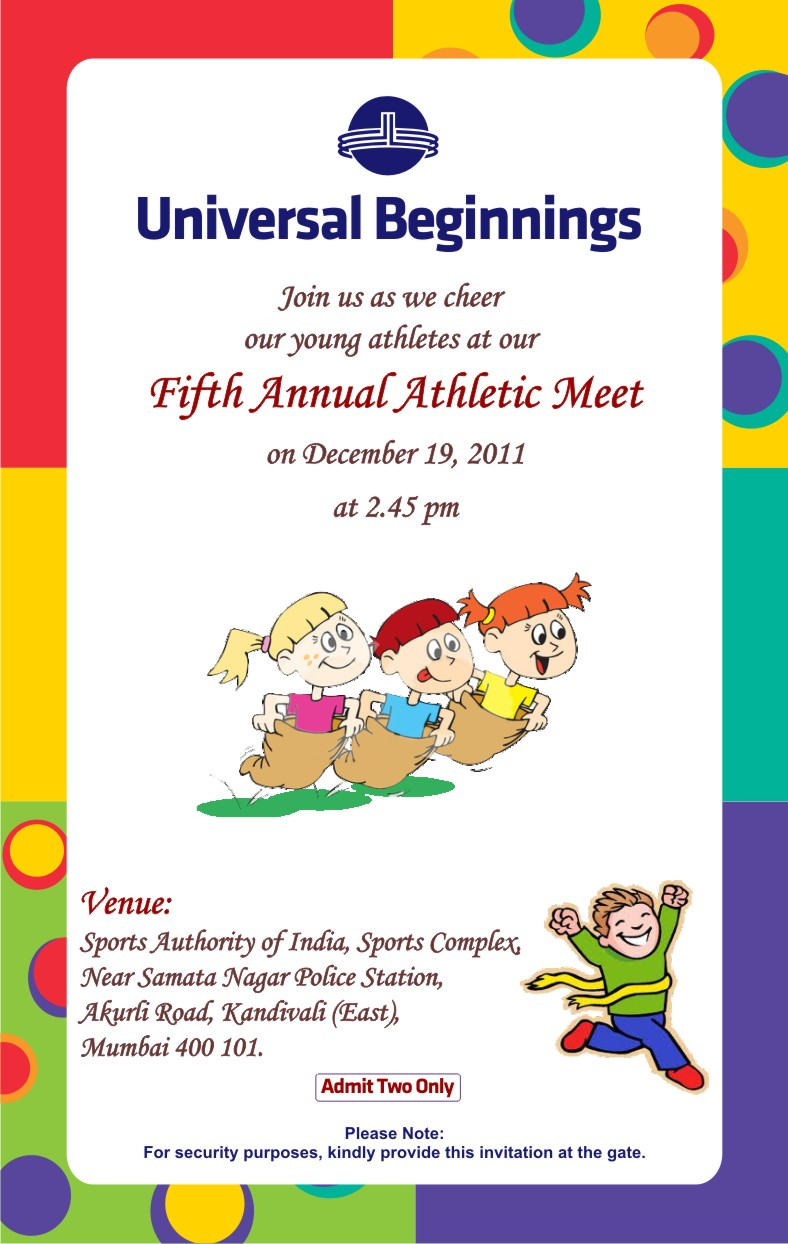 welcomespeech of sports meet Welcome speech good morning one and all today is a proud day for all the federalites this is the morning we all were waiting for it's our annual sports meet, another feather in federal's hat today i am extremely happy to welcome all of you today's special invitee, our chief guest mrs sonali sanade , is with us inspite of her busy schedule.