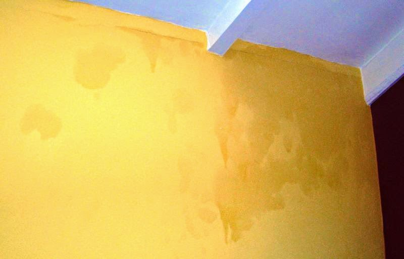 Signs of damp on the wall
