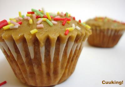 Cupcakes de plátano y café
