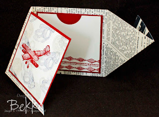 Plane and Simple Twisted Gift Card Holder