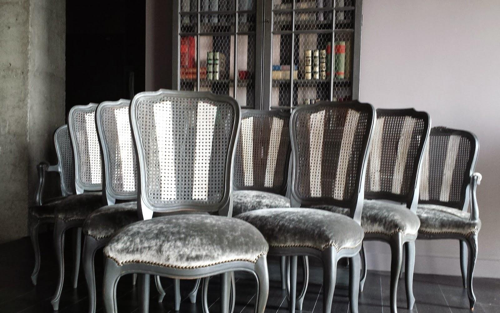 Candini muebles pintados nuevos y redecorados sillas for Sillas de comedor en barcelona