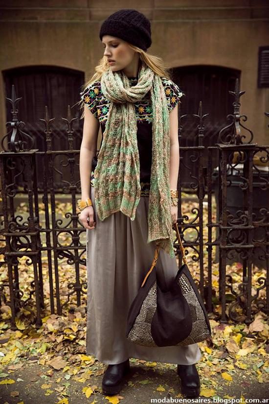 Faldas largas otoño invierno 2014 Moda casual invierno 2014.