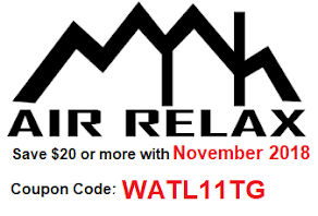 Air Relax November 2018 Coupon Code