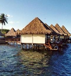 enfoques de turismo hoteles construidos sobre el agua