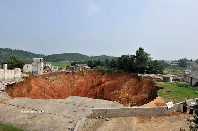 sinkhole near Qingquan primary school
