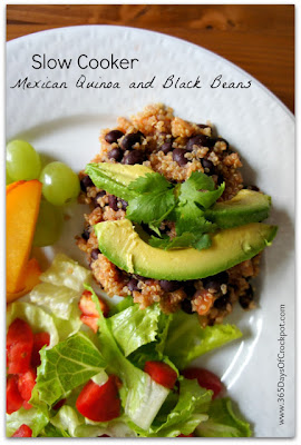 Slow Cooker Mexican Quinoa and Black Beans