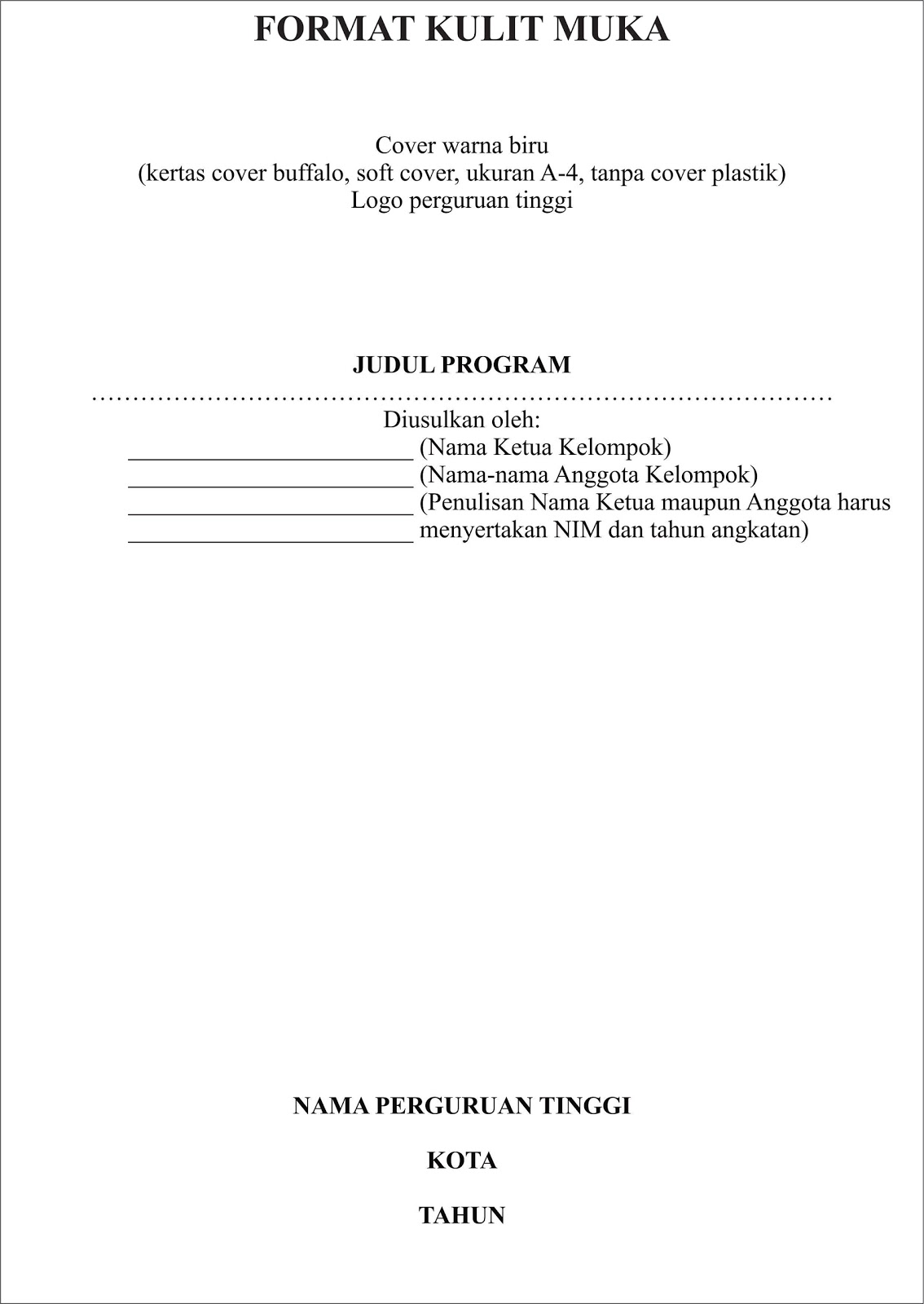 Contoh Makalah Karya Tulis | Share The Knownledge