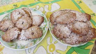 два варианта печенья - больше муки и меньше