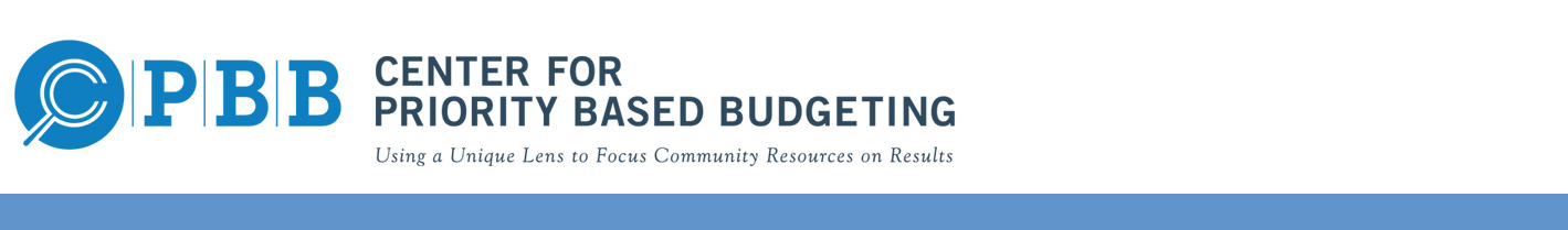 Priority Based Budgeting - Driving the Data-Focused Future of Communities