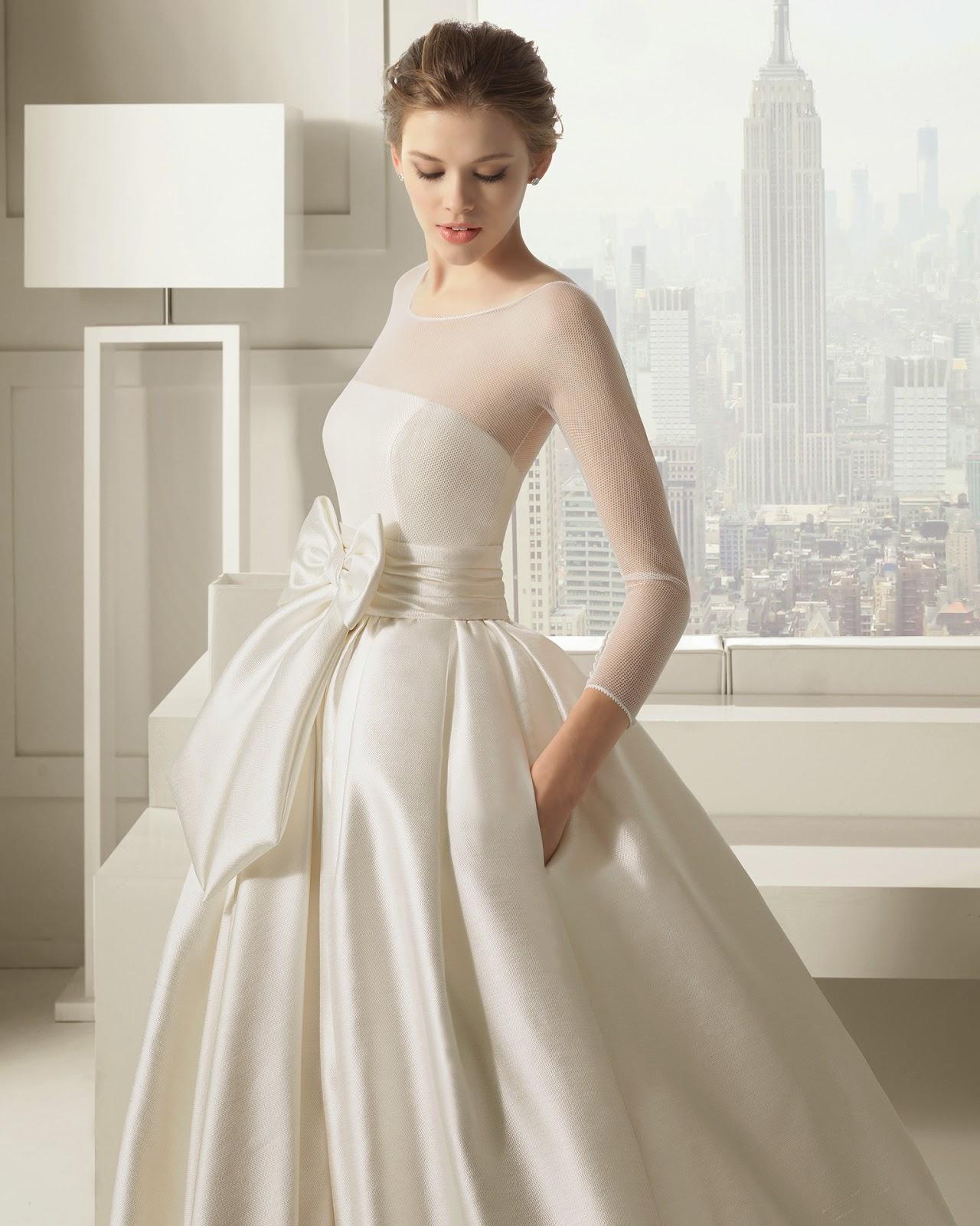 10 vestidos de novia de manga larga 2015