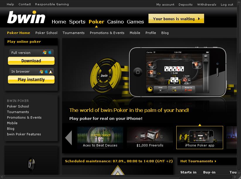 Poker bwin software