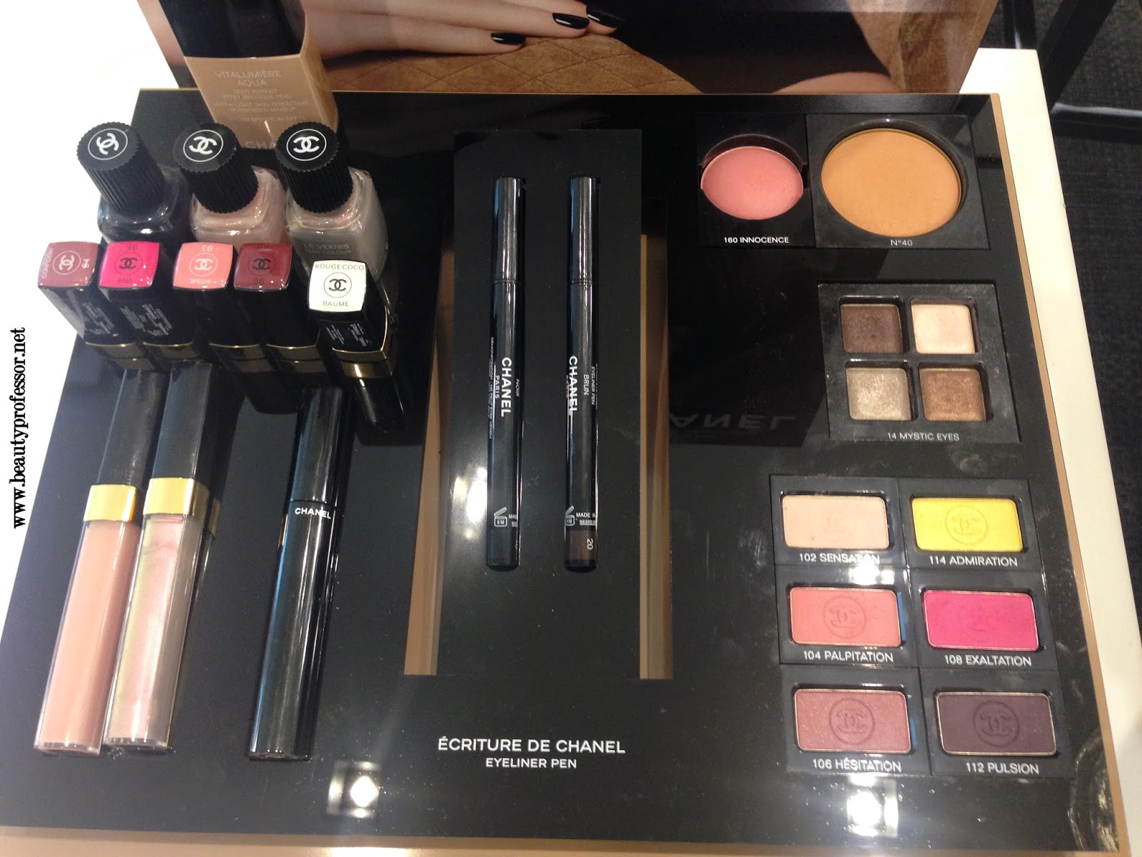 Chanel fall 2014 makeup collection swatches