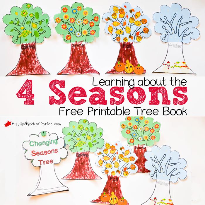 4 Seasons Nature Tree Craft For Kids