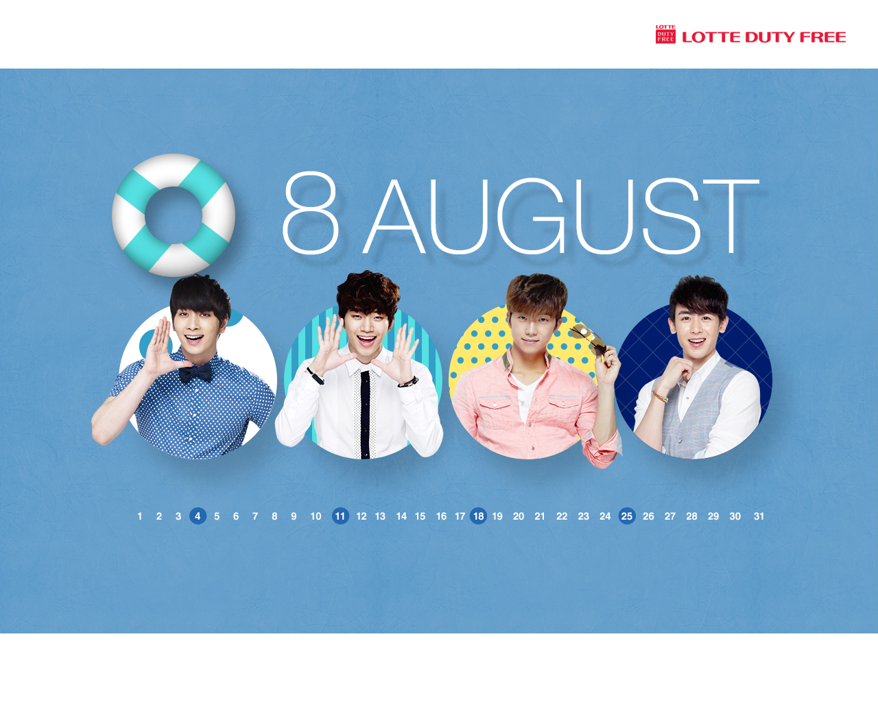 Everything About 2PM: [Poster] 2PM Lotte Duty Free Wallpaper [Calendar