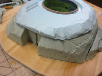 Cut Foam for building a Warhammer 40k Bunker