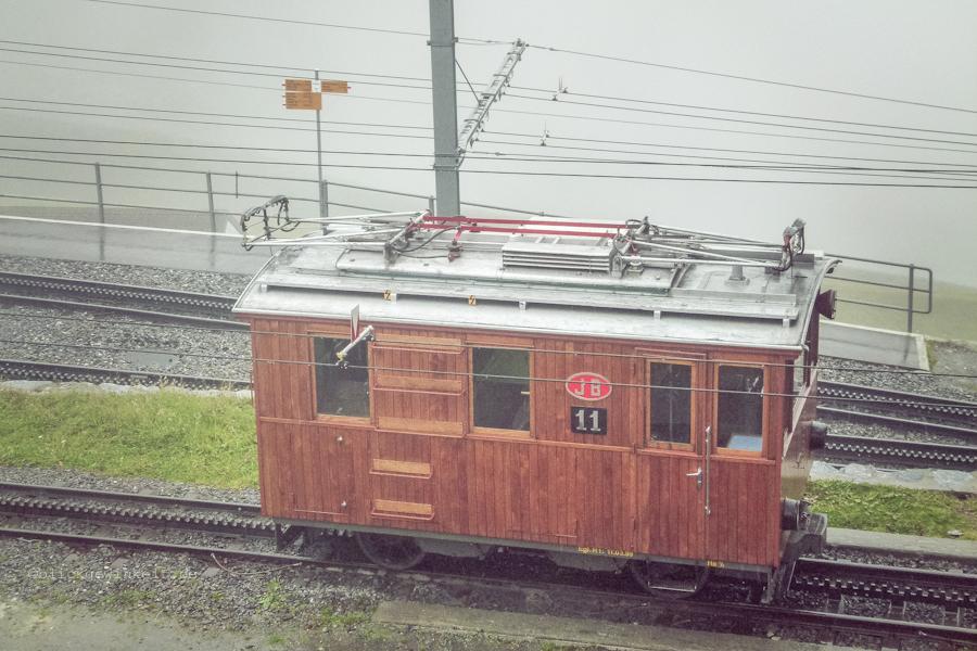 Alter Waggon der Jungfraubahnen