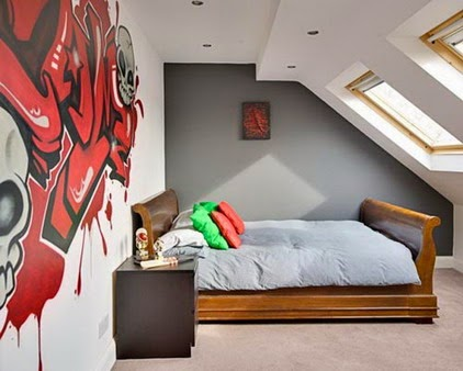 Inspire my interior graffiti art Painting graffiti on bedroom walls