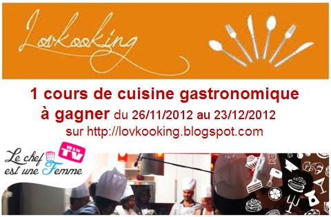 Lovkooking cours de cuisine gastronomique pour 2 gagner - Cours de cuisine gastronomique ...