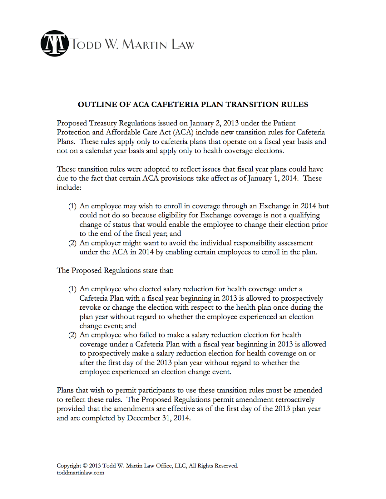 Cafeteria plan regulations just b cause for Section 125 plan document template